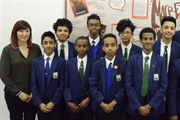 Manchester Academy students celebrate coming first in debating competition